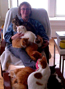 Michelle with kitties